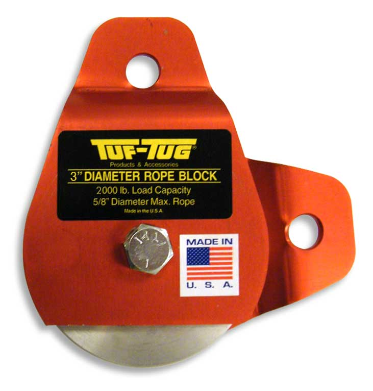"3"" Dia. Drop Side Pivot Blocks 2000 lb. capacity 1/2"" maximum rope size 3"" Diameter 