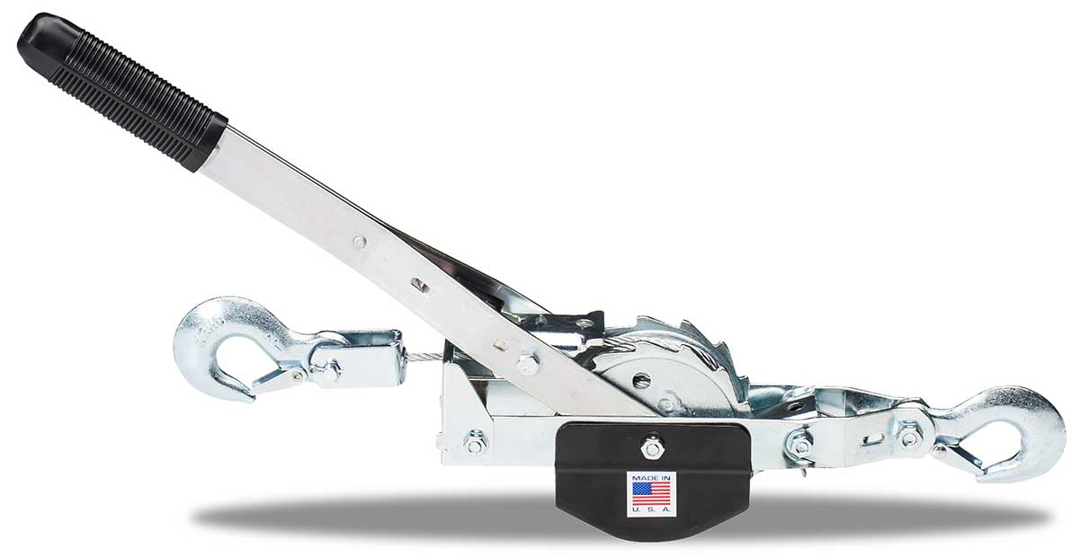 TUF-TUG CABLE HOIST PULLER | Small Frame Puller TT1-15C 1000 lbs lift/2000 lbs pull  /  10 ft single line