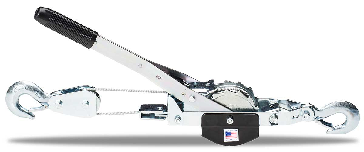 TUF-TUG CABLE HOIST PULLER | Small Frame Puller TT2-7.5C 2000 lbs lift/4000 lbs pull  /  7-1/2 ft double line | Tuf-Tug Products