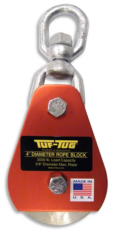 "Eye — ALSB3000E | 4"" Dia. Sheave Blocks 3000 lb. capacity 5/8"" diameter maximum rope 