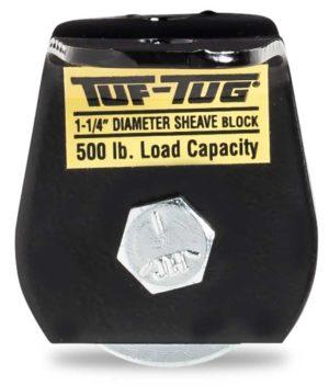 "Flat — SB500FM | 1-1/4"" Dia. Sheave Blocks 500 lb. capacity 3/16"" maximum cable size | Tuf-Tug Products"