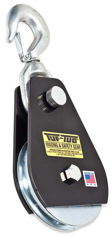 "Hook — TTSNB-3000SH | 4"" Dia. Drop Side Snatch Blocks 3000 lb. Capacity 5/8"" Maximum Cable Size 