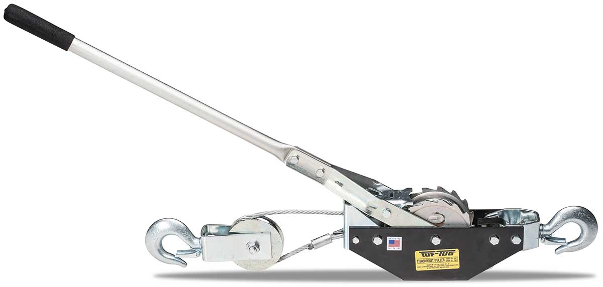 TUF-TUG CABLE HOIST PULLER | Large Frame Puller TT6000-6C 3000 lbs lift/6000 lbs pull / 6 ft double line | Tuf-Tug Products