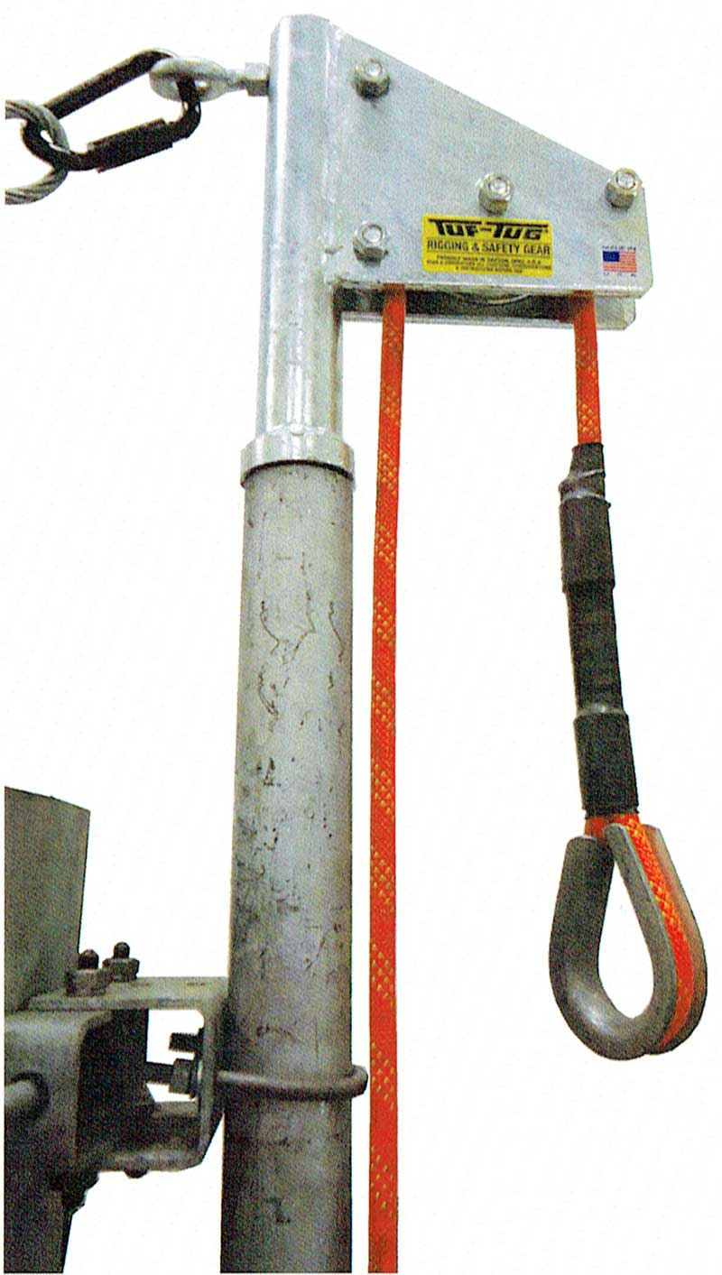 ANTENNA PIPE ROOSTER HEAD Max 250 lb. Lift Load Capacity 2″ Diameter | Tuf-Tug Products