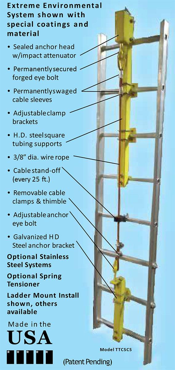 Extreme Environmental Safe-Climb System   Tuf-Tug Products