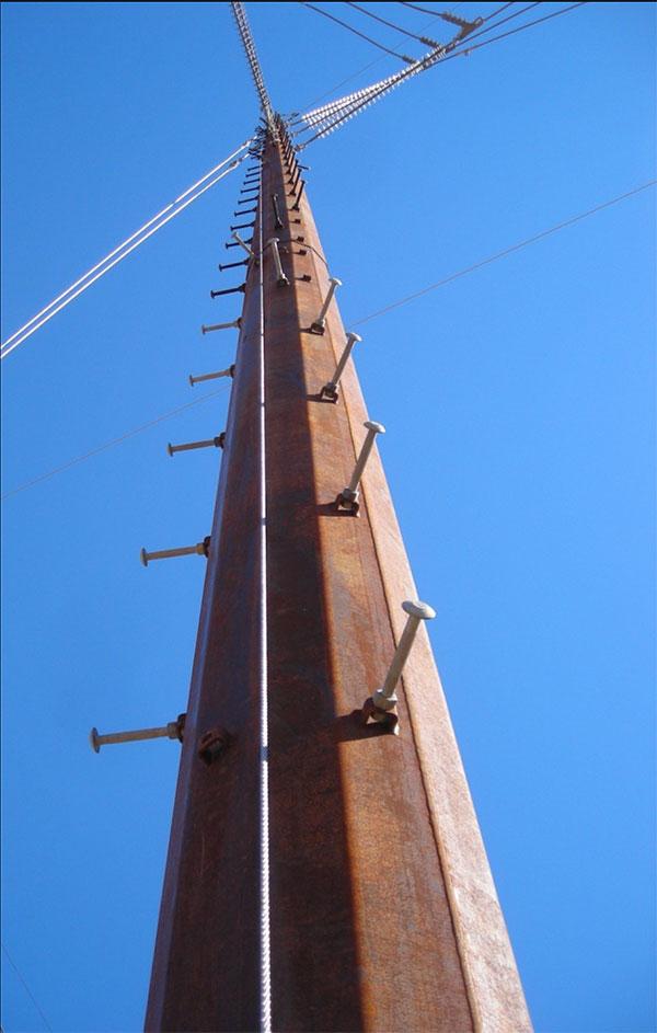 Utility/Transmission Pole Cable Safe-Climb System | Model # TTCSCS-(___)'-ENT | TUF-TUG Products