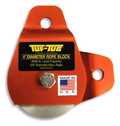 "Plain — ALSB2000P | Aluminum Sheave Blocks 2000 lb. capacity 1/2"" diameter maximum rope 