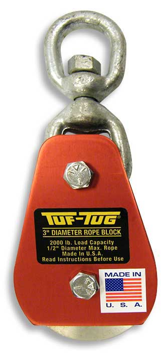 "Eye — ALSB2000E | Aluminum Sheave Blocks 2000 lb. capacity 1/2"" diameter maximum rope 
