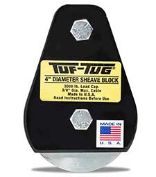 "Plain — SB3000P | 4"" Dia. Sheave Blocks 3000 lb. capacity 3/8"" maximum cable size 