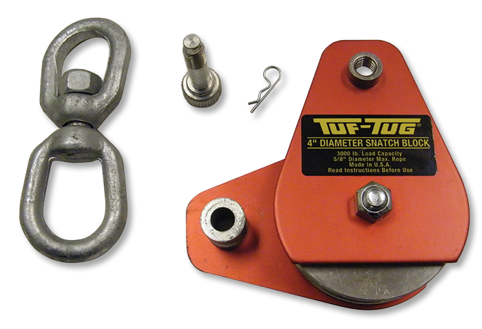 "Plain — ALSB-2000-P | Aluminum Sheave Blocks 2000 lb. capacity 1/2"" diameter maximum rope 