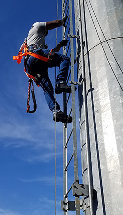 Ladder Mount Cable Safe-Climb System | Safe-Climb Fall Protection | Tuf-Tug products