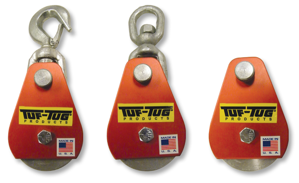 Tuf-Tug Products | DROP SIDE ALUMINUM SNATCH BLOCKS and Rigging Gear