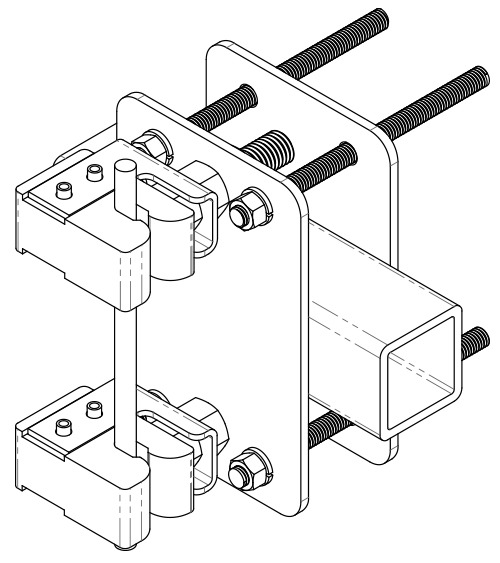 Obstruction Avoidance Components T-Boom/Arm Stand-Off Assembly | Model # 115-352 | TUF-TUG Products